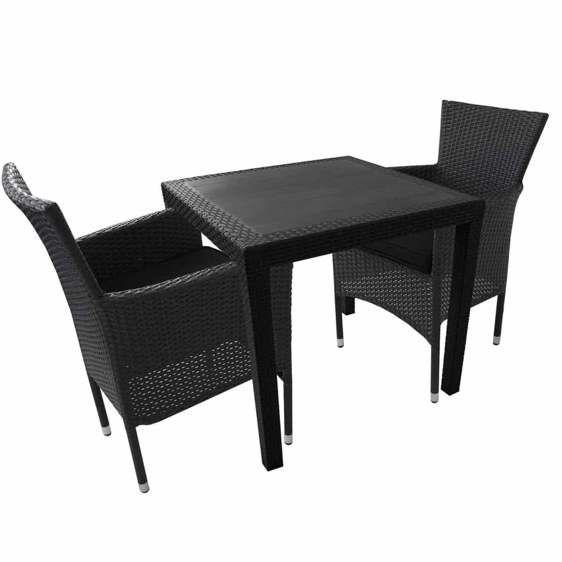 balkonm bel polyrattan set gartenmoebel. Black Bedroom Furniture Sets. Home Design Ideas