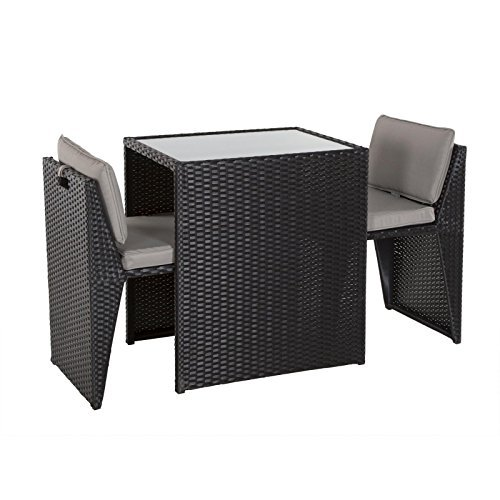poly rattan balkonset platzsparend gartenmoebel. Black Bedroom Furniture Sets. Home Design Ideas