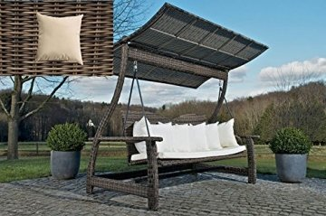 hollywoodschaukel rattan clp luxus gartenmoebel. Black Bedroom Furniture Sets. Home Design Ideas