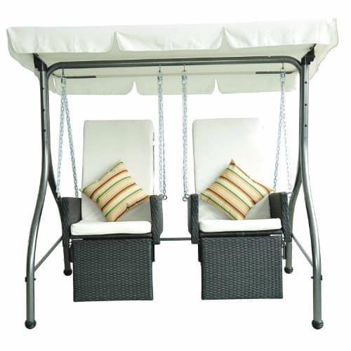 Hollywoodschaukel Rattan - Outsunny Polyrattan Hollywoodschaukel ...