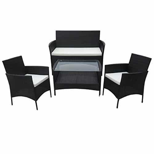 poly rattan lounge gartenset schwarz sofa garnitur polyrattan gartenm bel neu gartenmoebel. Black Bedroom Furniture Sets. Home Design Ideas