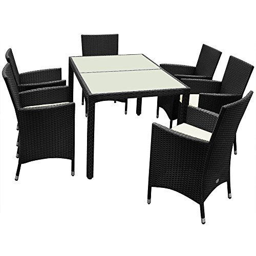 polyrattan sitzgarnitur 61 sitzgruppe gartenmoebel gartenset gartengarnitur essgruppe rattan 1. Black Bedroom Furniture Sets. Home Design Ideas
