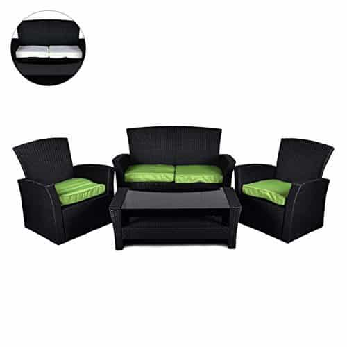rattan set 4tlg gartenmoebel kaufen. Black Bedroom Furniture Sets. Home Design Ideas