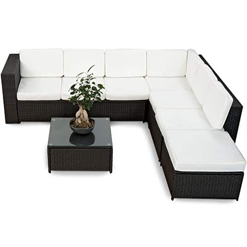 Xinro 19tlg gartenmoebel for Lounge set rattan gunstig